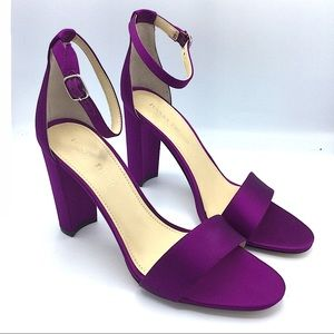 Ivanka Trump New Purple Fuchsia Sandals Heels 10M